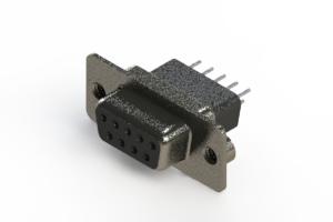 628-009-221-052 - Vertical Metal Body D-Sub Connector