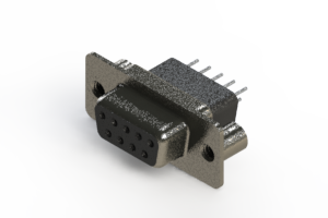628-009-221-059 - Vertical Metal Body D-Sub Connector