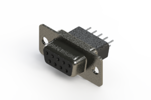 628-009-221-071 - Vertical Metal Body D-Sub Connector