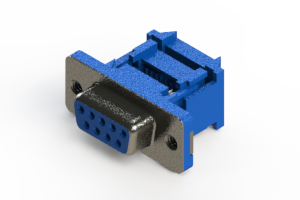 628-009-227-012 - Vertical Plastic Body D-Sub Connector