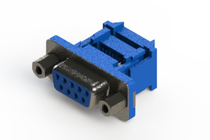 628-009-227-013 - Vertical Plastic Body D-Sub Connector