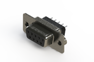 628-009-228-042 - Vertical Metal Body D-Sub Connector