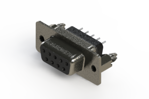 628-009-228-046 - Vertical Metal Body D-Sub Connector