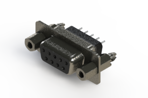 628-009-228-047 - Vertical Metal Body D-Sub Connector
