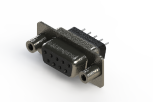628-009-228-048 - Vertical Metal Body D-Sub Connector