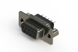 628-009-228-049 - Vertical Metal Body D-Sub Connector