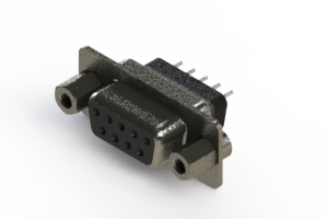 628-009-228-243 - Vertical Metal Body D-Sub Connector