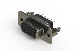 628-009-228-246 - Vertical Metal Body D-Sub Connector