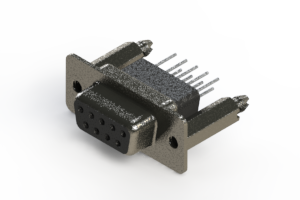 628-009-271-076 - Vertical Metal Body D-Sub Connector