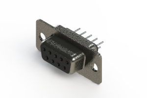 628-009-320-041 - Vertical Metal Body D-Sub Connector