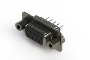 628-009-320-043 - Vertical Metal Body D-Sub Connector