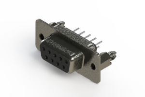 628-009-320-046 - Vertical Metal Body D-Sub Connector