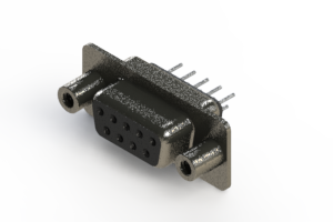 628-009-320-048 - Vertical Metal Body D-Sub Connector