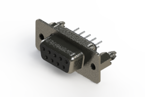 628-009-620-046 - Vertical Metal Body D-Sub Connector