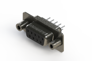 628-009-620-048 - Vertical Metal Body D-Sub Connector