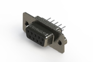 628-009-620-242 - Vertical Metal Body D-Sub Connector