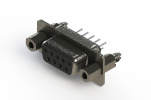 628-009-620-247 - Vertical Metal Body D-Sub Connector