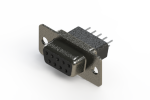 628-009-621-051 - Vertical Metal Body D-Sub Connector