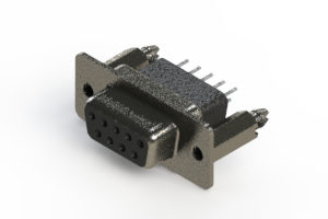 628-009-621-056 - Vertical Metal Body D-Sub Connector