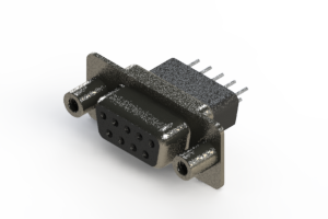 628-009-621-058 - Vertical Metal Body D-Sub Connector