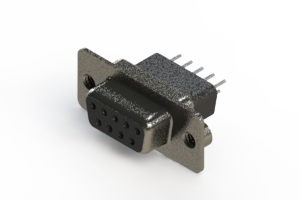 628-009-621-072 - Vertical Metal Body D-Sub Connector