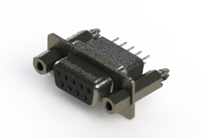 628-009-621-077 - Vertical Metal Body D-Sub Connector