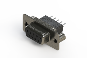 628-009-621-079 - Vertical Metal Body D-Sub Connector