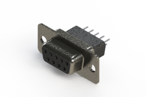 628-009-621-251 - Vertical Metal Body D-Sub Connector
