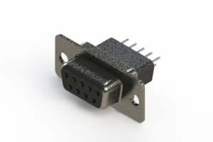 628-009-621-271 - Vertical Metal Body D-Sub Connector