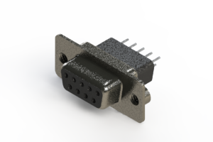 628-009-621-272 - Vertical Metal Body D-Sub Connector