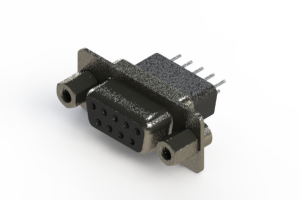 628-009-621-273 - Vertical Metal Body D-Sub Connector