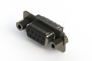 628-009-622-043 - Vertical Metal Body D-Sub Connector
