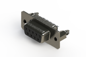 628-009-622-046 - Vertical Metal Body D-Sub Connector