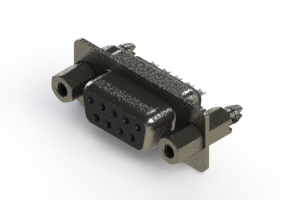 628-009-622-047 - Vertical Metal Body D-Sub Connector
