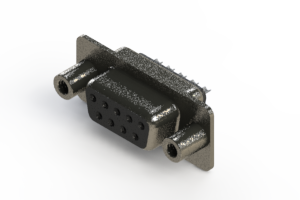 628-009-622-048 - Vertical Metal Body D-Sub Connector