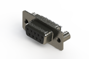 628-009-622-049 - Vertical Metal Body D-Sub Connector
