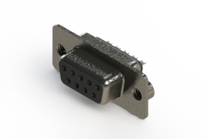 628-009-622-062 - Vertical Metal Body D-Sub Connector