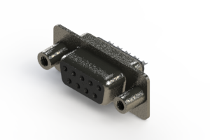 628-009-622-068 - Vertical Metal Body D-Sub Connector