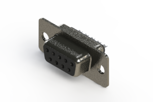 628-009-622-241 - Vertical Metal Body D-Sub Connector