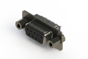 628-009-622-243 - Vertical Metal Body D-Sub Connector