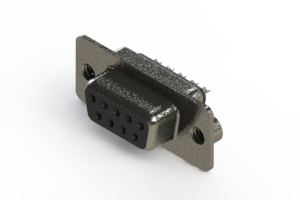628-009-622-262 - Vertical Metal Body D-Sub Connector