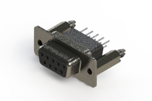 628-009-651-076 - Vertical Metal Body D-Sub Connector