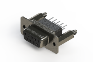 628-009-661-056 - Vertical Metal Body D-Sub Connector