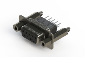 628-009-661-057 - Vertical Metal Body D-Sub Connector