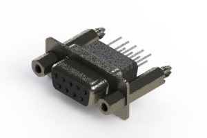 628-009-671-057 - Vertical Metal Body D-Sub Connector