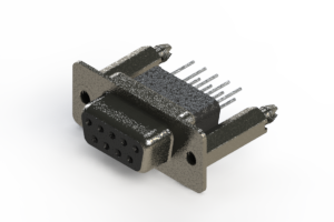 628-009-681-256 - Vertical Metal Body D-Sub Connector