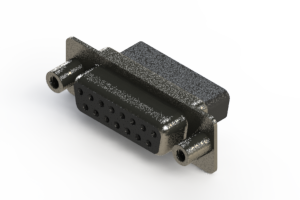 628-015-010-258 - Vertical Metal Body D-Sub Connector