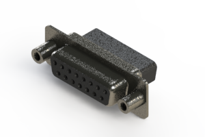 628-015-010-259 - Vertical Metal Body D-Sub Connector