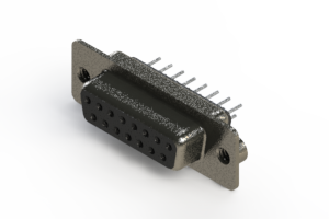 628-015-220-042 - Vertical Metal Body D-Sub Connector