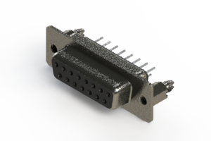 628-015-220-046 - Vertical Metal Body D-Sub Connector
